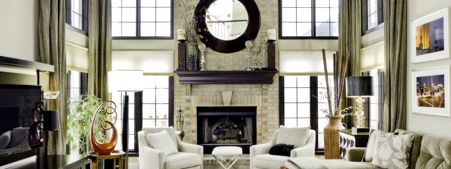 Living Room by Angie Gardeck, New Perspective Design